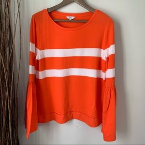 Crown & Ivy Pullover Flare LongSleeve Top Small